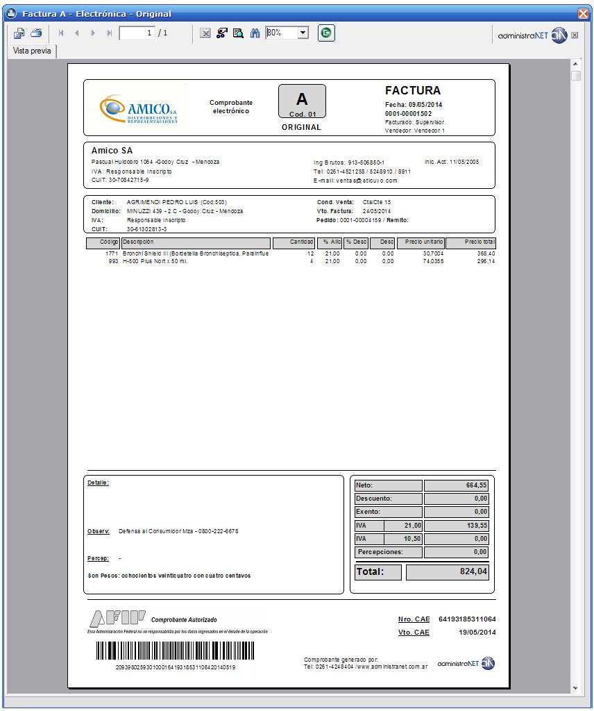 administranet gestión factura electrónica rg 2485 3749 15